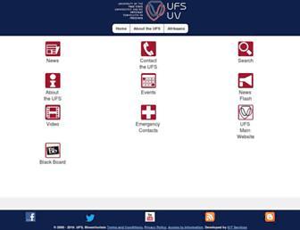 m.ufs.ac.za screenshot