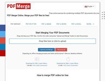 pdfmergefree.com screenshot