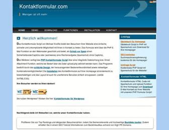 kontaktformular.com screenshot