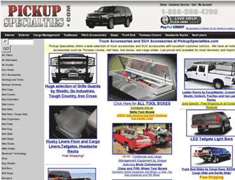 Thumbshot of Pickupspecialties.com