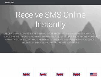 receive-smss.com screenshot