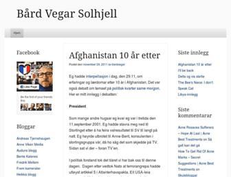Main page screenshot of bardvegar.no