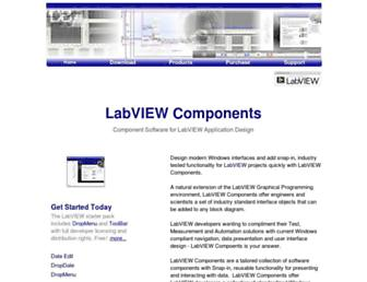 labviewcomponents.com screenshot