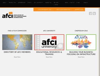 Main page screenshot of afci.org