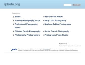 Main page screenshot of iphoto.org