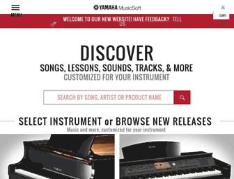 yamahamusicsoft.com screenshot