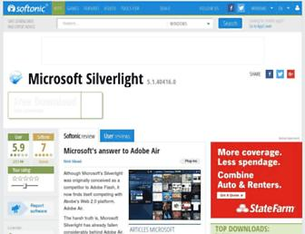microsoft-silverlight.en.softonic.com screenshot