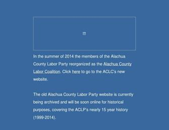 Main page screenshot of floridalaborparty.org
