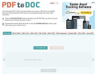 pdf2doc.com screenshot