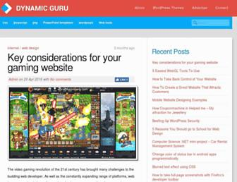 dynamicguru.com screenshot
