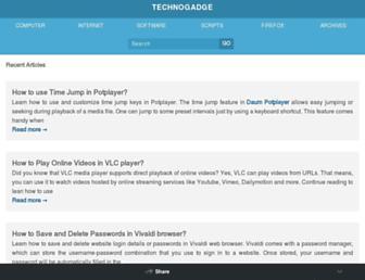 technogadge.com screenshot