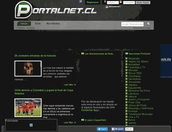 Main page screenshot of portalnet.cl