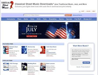 virtualsheetmusic.com screenshot