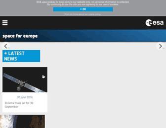 Main page screenshot of esa.int