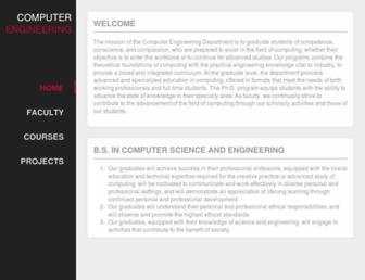 cse.scu.edu screenshot