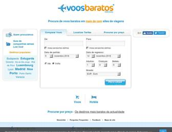 Main page screenshot of voosbaratos.pt