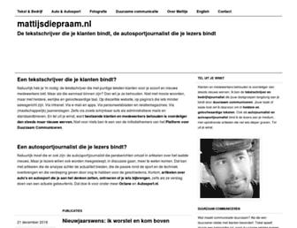 Main page screenshot of mattijsdiepraam.nl
