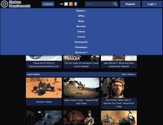 gamesystemrequirements.com screenshot