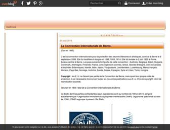 Main page screenshot of gtell.over-blog.org