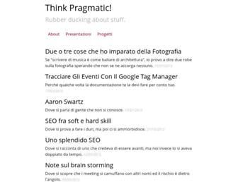 Main page screenshot of thinkpragmatic.net