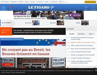 Main page screenshot of lefigaro.fr