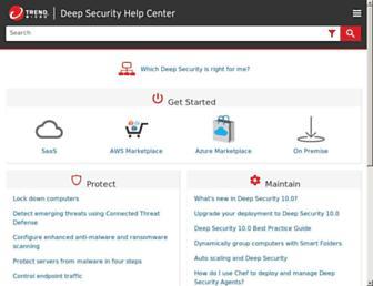help.deepsecurity.trendmicro.com screenshot