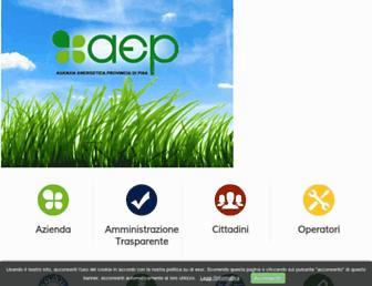 Main page screenshot of agenpi.eu
