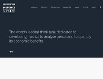 economicsandpeace.org screenshot