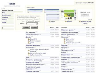 Main page screenshot of hit.ua