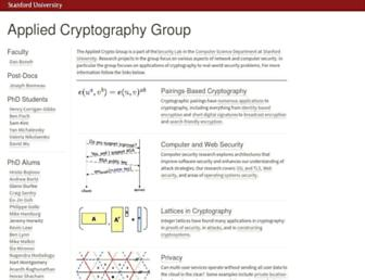 crypto.stanford.edu screenshot