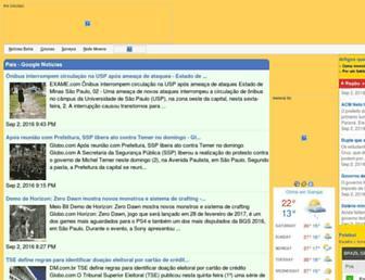 Main page screenshot of verao.com.br