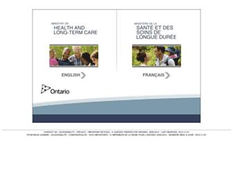 health.gov.on.ca screenshot