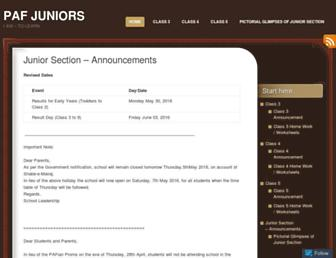 pafjuniors.wordpress.com screenshot