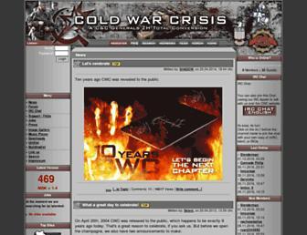 Main page screenshot of cold-war-crisis.de