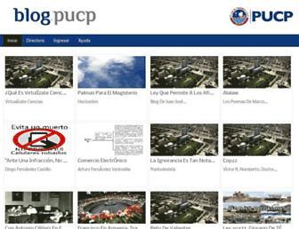 Main page screenshot of blog.pucp.edu.pe