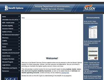benefitoptions.az.gov screenshot