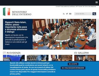 Main page screenshot of interno.it
