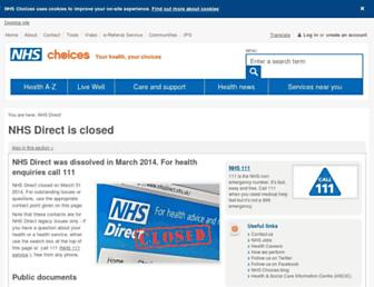 Thumbshot of Nhsdirect.nhs.uk