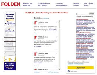 Main page screenshot of folden.de
