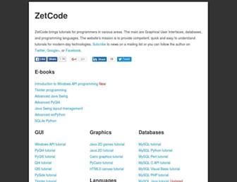 zetcode.com screenshot