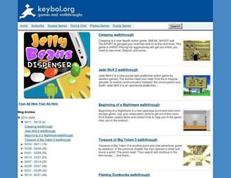 Main page screenshot of keybol.org