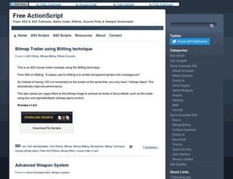 freeactionscript.com screenshot