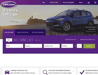 cars.com screenshot