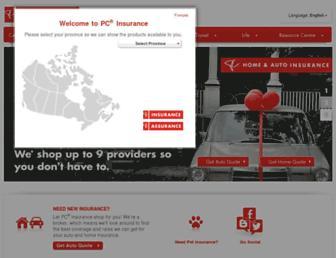 pcinsurance.ca screenshot