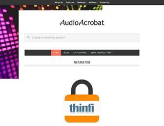 blog.audioacrobat.com screenshot