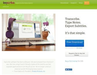 inqscribe.com screenshot