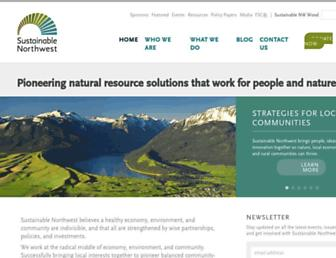 sustainablenorthwest.org screenshot