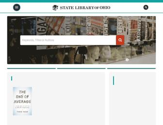 Main page screenshot of library.ohio.gov
