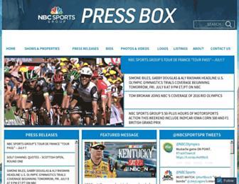 nbcsportsgrouppressbox.com screenshot