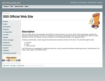 ss5.sourceforge.net screenshot